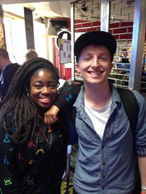 Fresh FM station manager Will Squire with Radio 1 DJ Clara Amfo